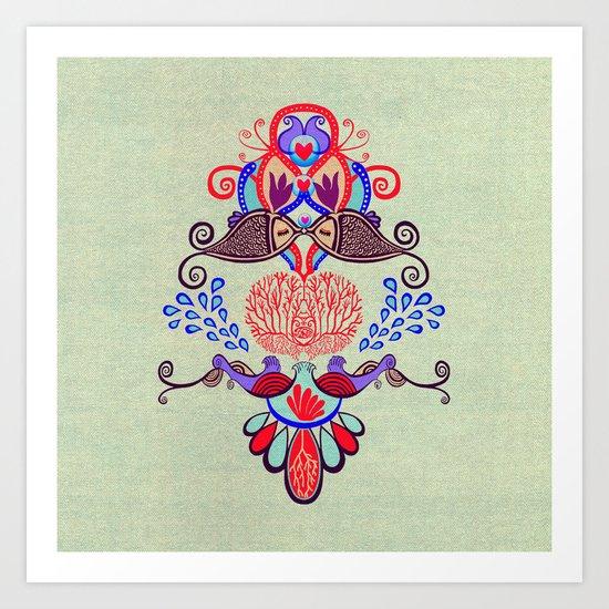 Sealife Harmony  Art Print