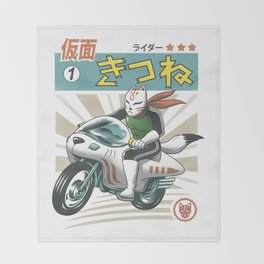 Kitsune Kamen Rider Throw Blanket