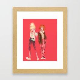 Valérie & Pomme Framed Art Print