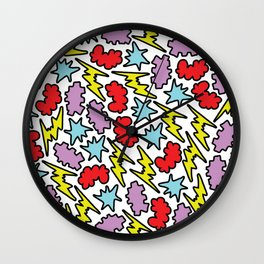 Pop pattern Wall Clock