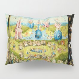 the Garden of Earthly Delights by Bosch Pillow Sham
