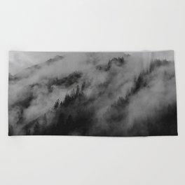 foggy feels Beach Towel