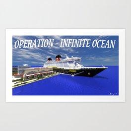 Minecraft - Operation Infinite Ocean - Disney Dream  Art Print