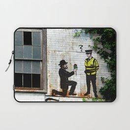 Street Art Gangster Proposal London Urban Wall Graffiti Artist Prolifik Laptop Sleeve