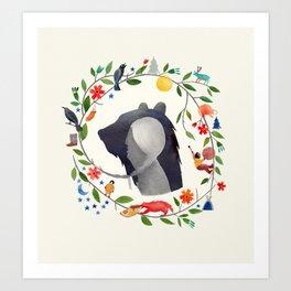 La légende de Carcajou Art Print