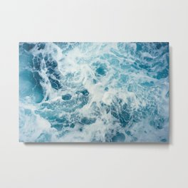 Sea Swirl Metal Print