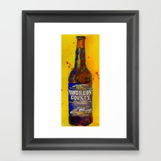 Bourbon County Stout, Goose Island for Beer Art Print from original Watercolor - Man Cave - College Framed Art Print
