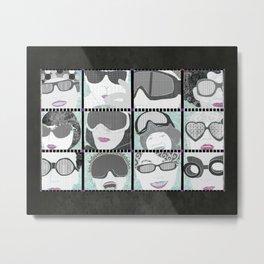 Goggles & Glasses horizontal Metal Print