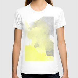 Yellow and Gray Ombre Watercolor  T-shirt
