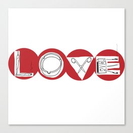 LOVE TOKE Canvas Print