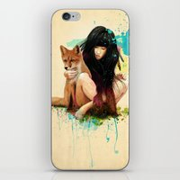 ariana grande iPhone & iPod Skins featuring Fox Love by Ariana Perez