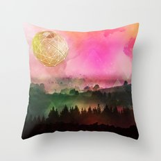 Death Star Alternate Universe Throw Pillow