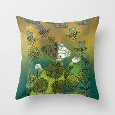 The Beekeeper Throw Pillow