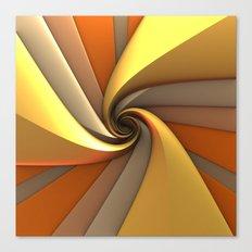 Tri-Gold Spiral Canvas Print