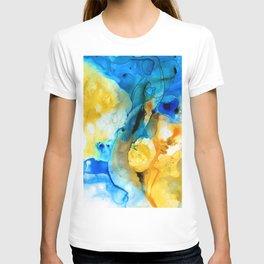 Iced Lemon Drop - Abstract Art By Sharon Cummings T-shirt