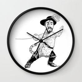 Kyle in Boots Wall Clock