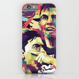 Ronaldo and Dybala on WPAP Pop Art Portrait iPhone Case