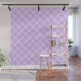 Electric Violet Interlock Pattern Wall Mural