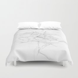 """""""Whatever, Oh Well"""" Black and White Abstract Design Duvet Cover"""