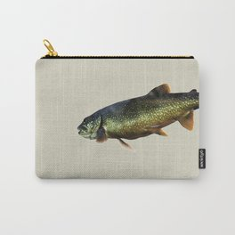 Trout on Beige Carry-All Pouch