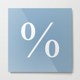 percent sign on placid blue color background Metal Print