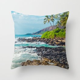 Paako Beach Blue Sensation Throw Pillow