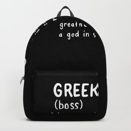 Funny Greek Dictionary Noun For A Proud Greek product Backpack