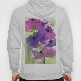 purple flowers in the garden Hoody