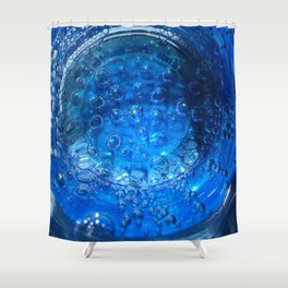 Clear Blue Water Bubbles Shower Curtain