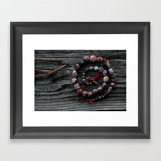 Tribal treasures Framed Art Print