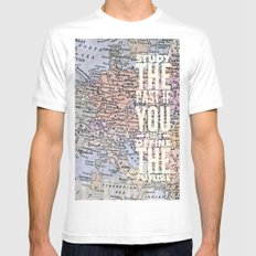 study the past Mens Fitted Tee MEDIUM White