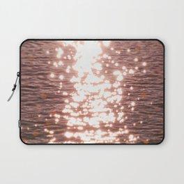 Sun glitter - blush gold Laptop Sleeve