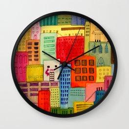 une ville à moi Wall Clock
