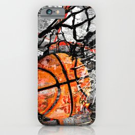 Basketball art print swoosh 153 - basketball artwork poster iPhone Case