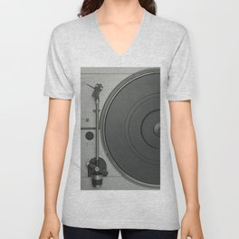 OLD SCHOOL VINYL VIBES Unisex V-Neck