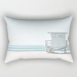 Lifeguard Beach Hut Rectangular Pillow