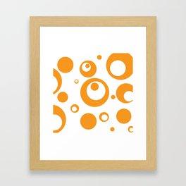 Circles Dots Bubbles :: Marmalade Inverse Framed Art Print