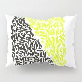 black and yellow calligraffiti pattern Pillow Sham