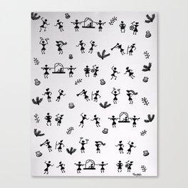 Warli Pattern Canvas Print
