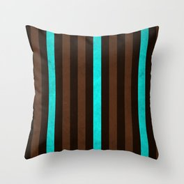 Stripes Collection: Earth & Water Throw Pillow
