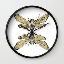 Summer Cicada – Black & Gold Palette Wall Clock