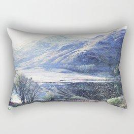 Western Highlands Scotland watercolour Rectangular Pillow