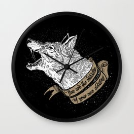 Wolf Protector (Black n Bronze collection) Wall Clock