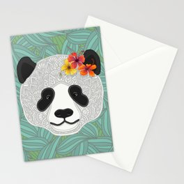 Tropical Panda Stationery Cards