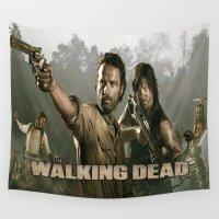 walking dead Wall Tapestries featuring Walking Dead by store2u