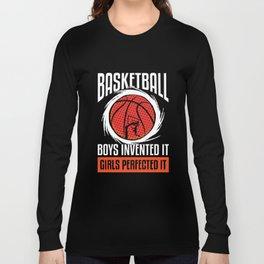 Basketball Girls perfected it coach sport Long Sleeve T-shirt