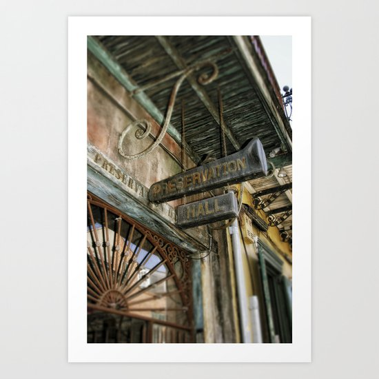 Preservation Hall Art Print