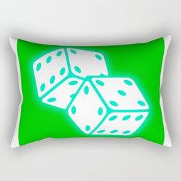 Two game dices neon light design Rectangular Pillow