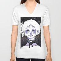 celestial V-neck T-shirts featuring celestial by Jordan Whitaker