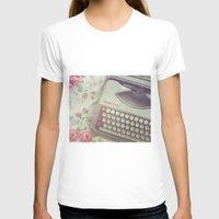 typewriter T-shirts featuring Typewriter by Beth Retro